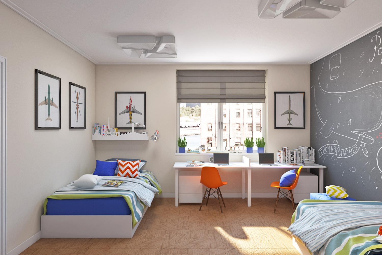 Детская комната в хрущевке для мальчика