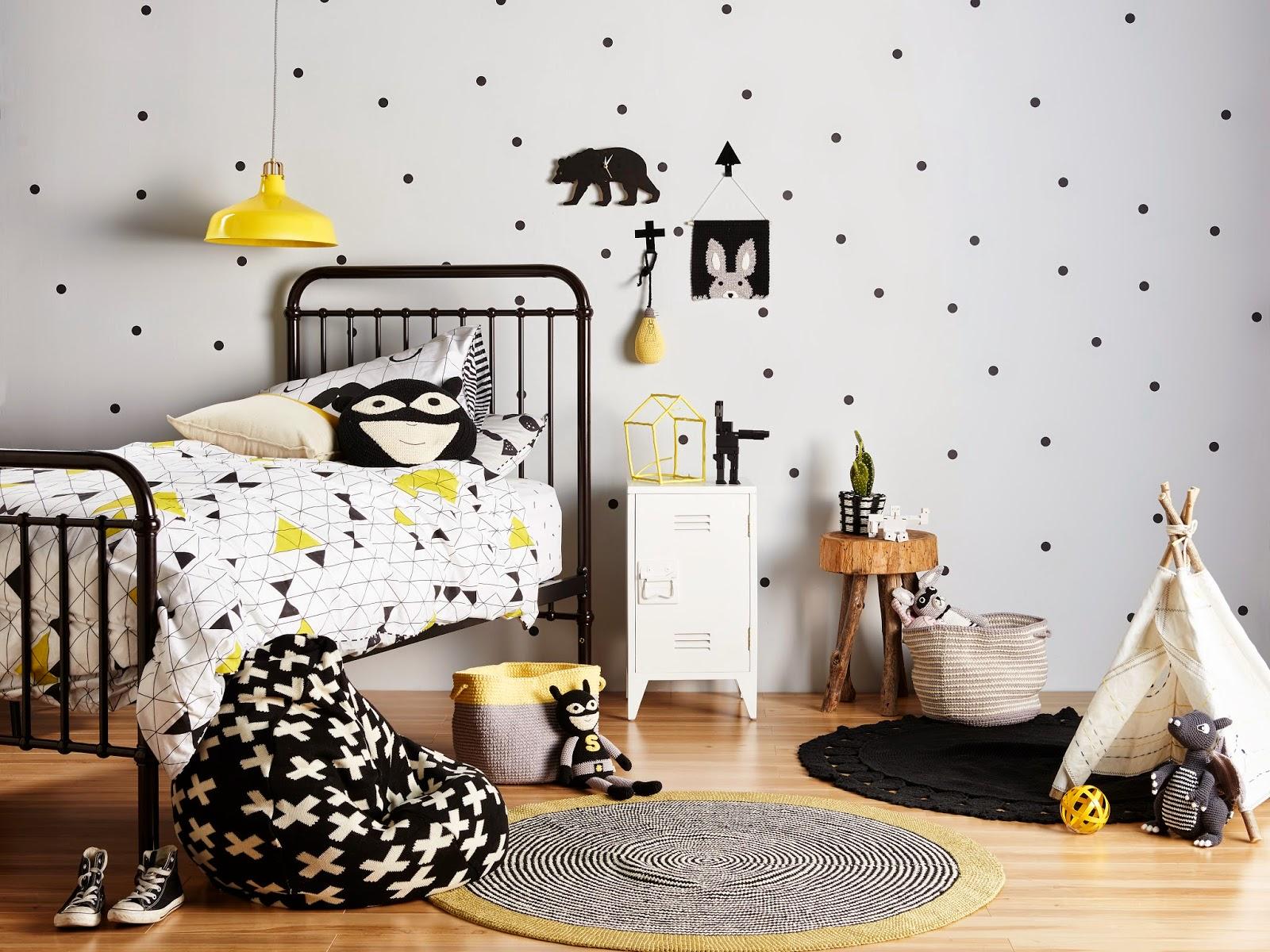 Детская комната в хрущевке в монохромном дизайне