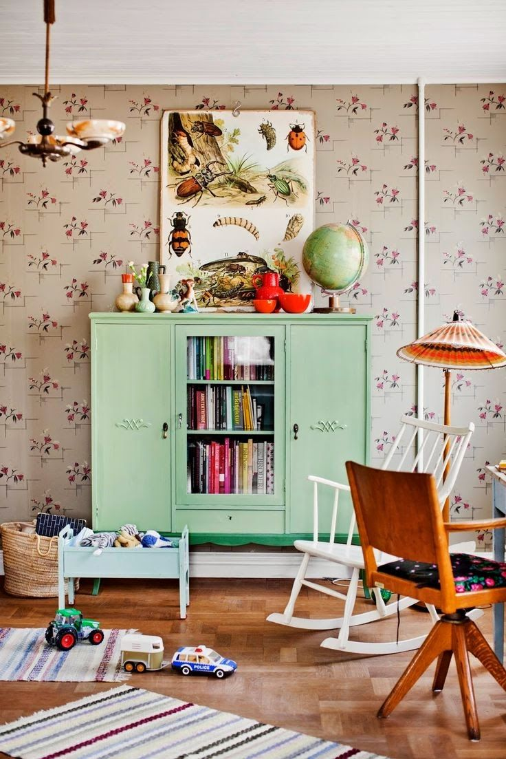 Детская комната в хрущевке в стиле ретро