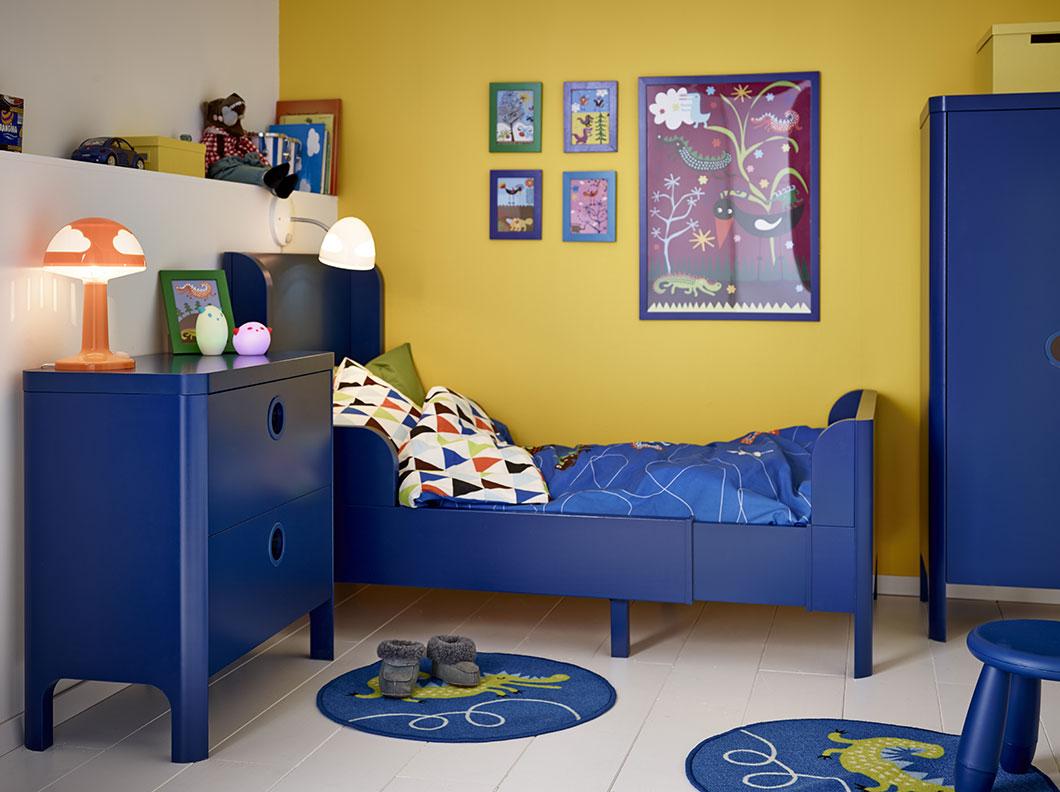 Детская комната в хрущевке синяя