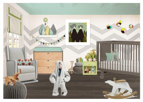 Дизайн в узкой детской комнате