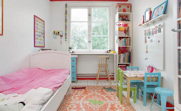 Дизайн узкой комнаты для разнополых детей