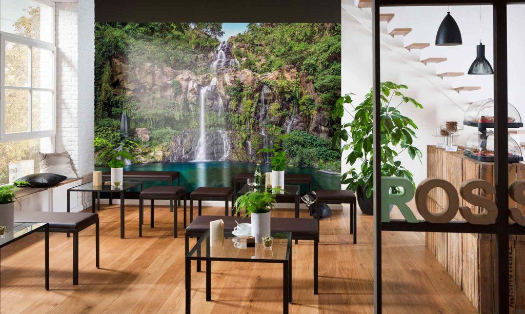 3d обои с изображением большого водопада