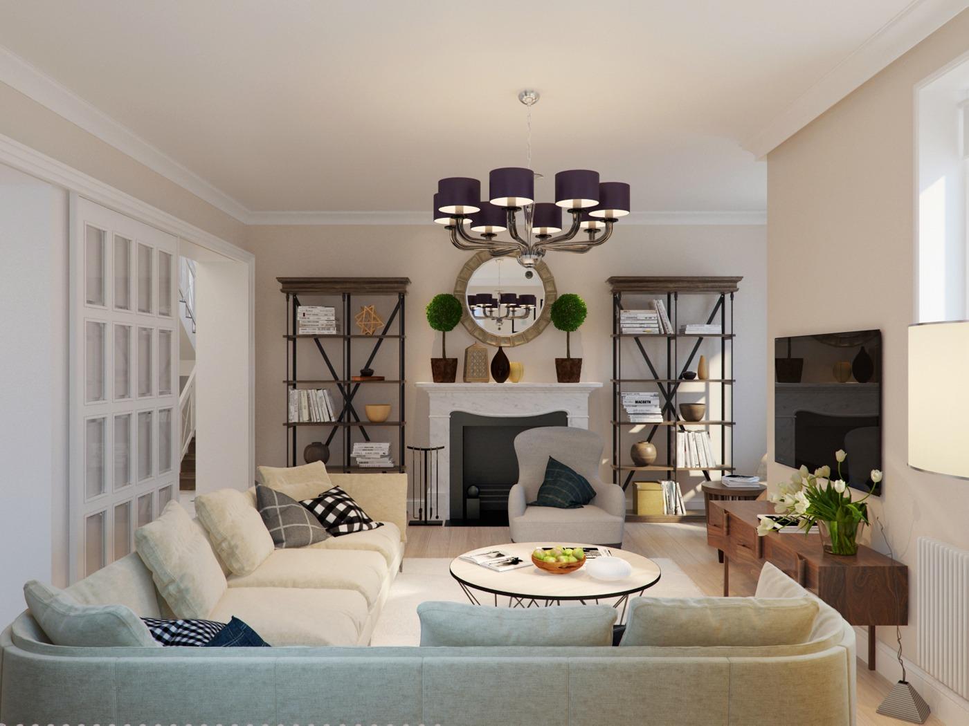 Стили в дизайне интерьера загородного дома