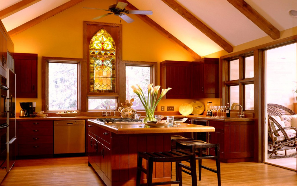 Дизайн американского интерьера кухни