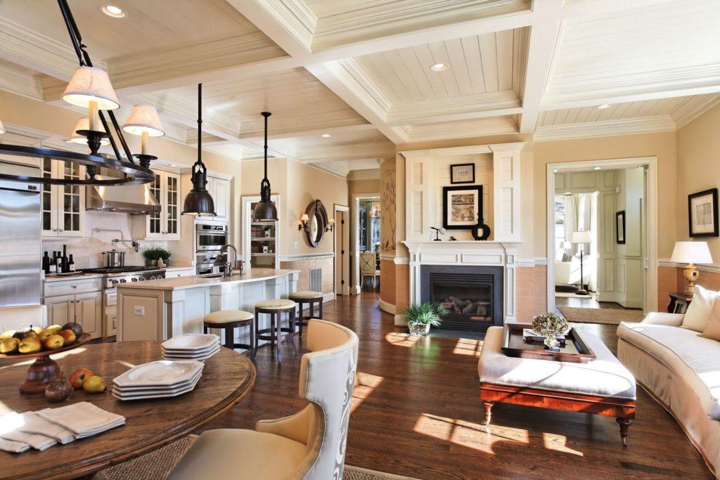 Американский дизайн в уютной кухне