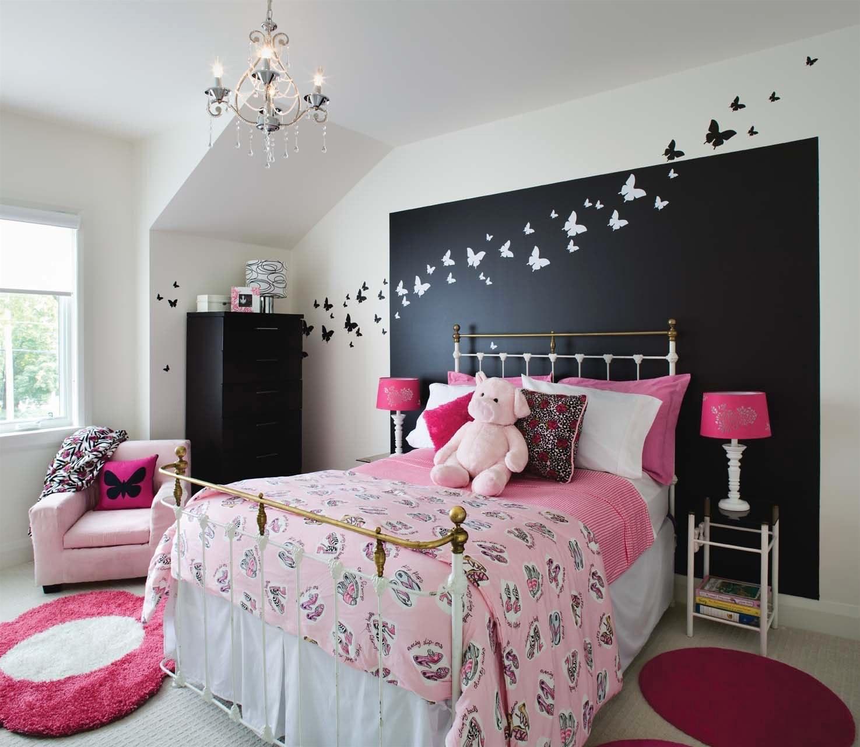 Дизайн комнаты для подростка с бабочками