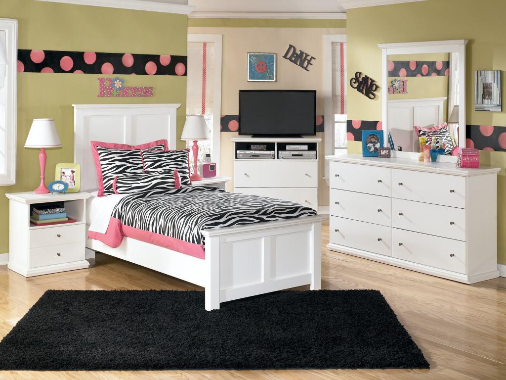Дизайн комнаты для подростка белый