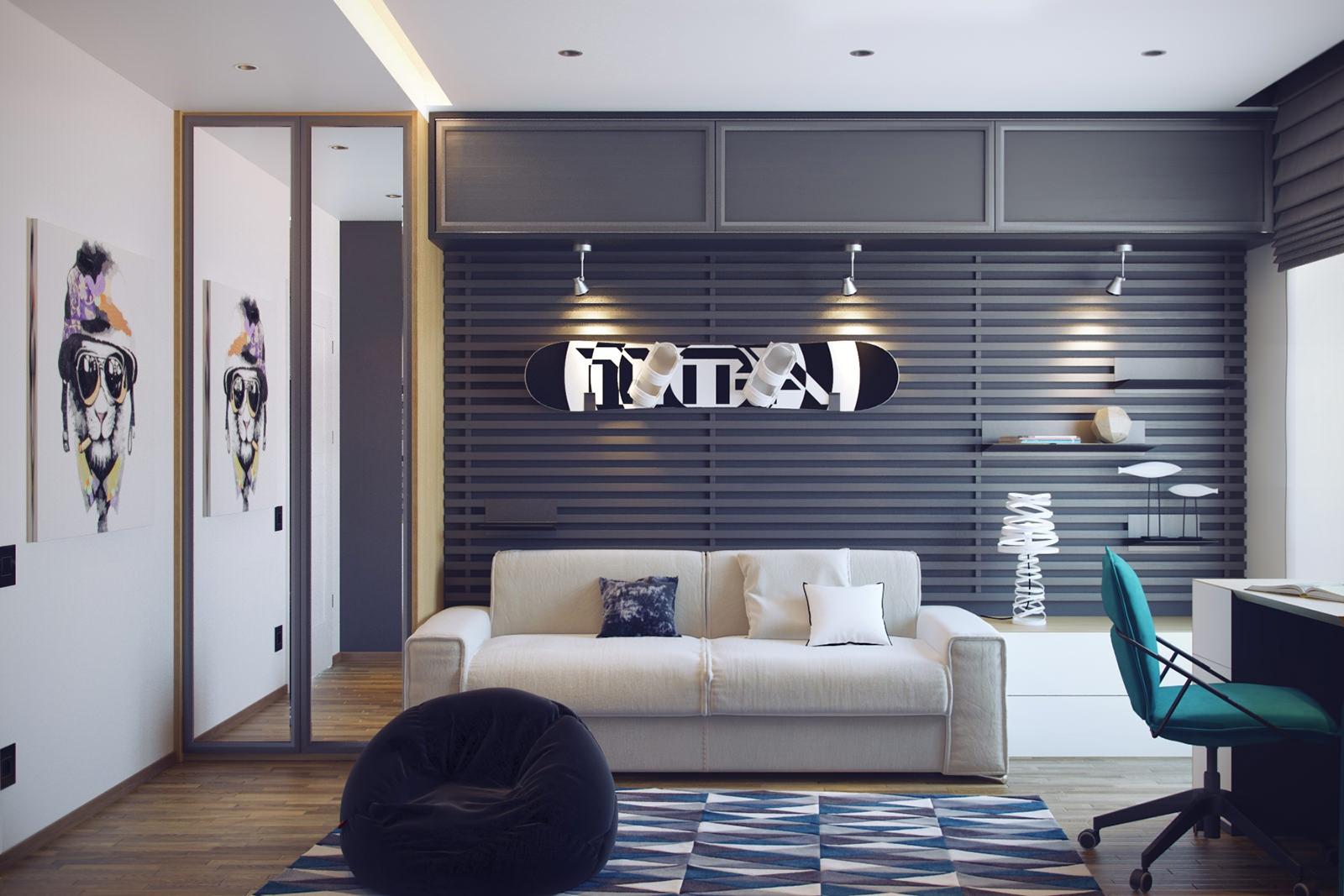 Дизайн комнаты для подростка с диваном