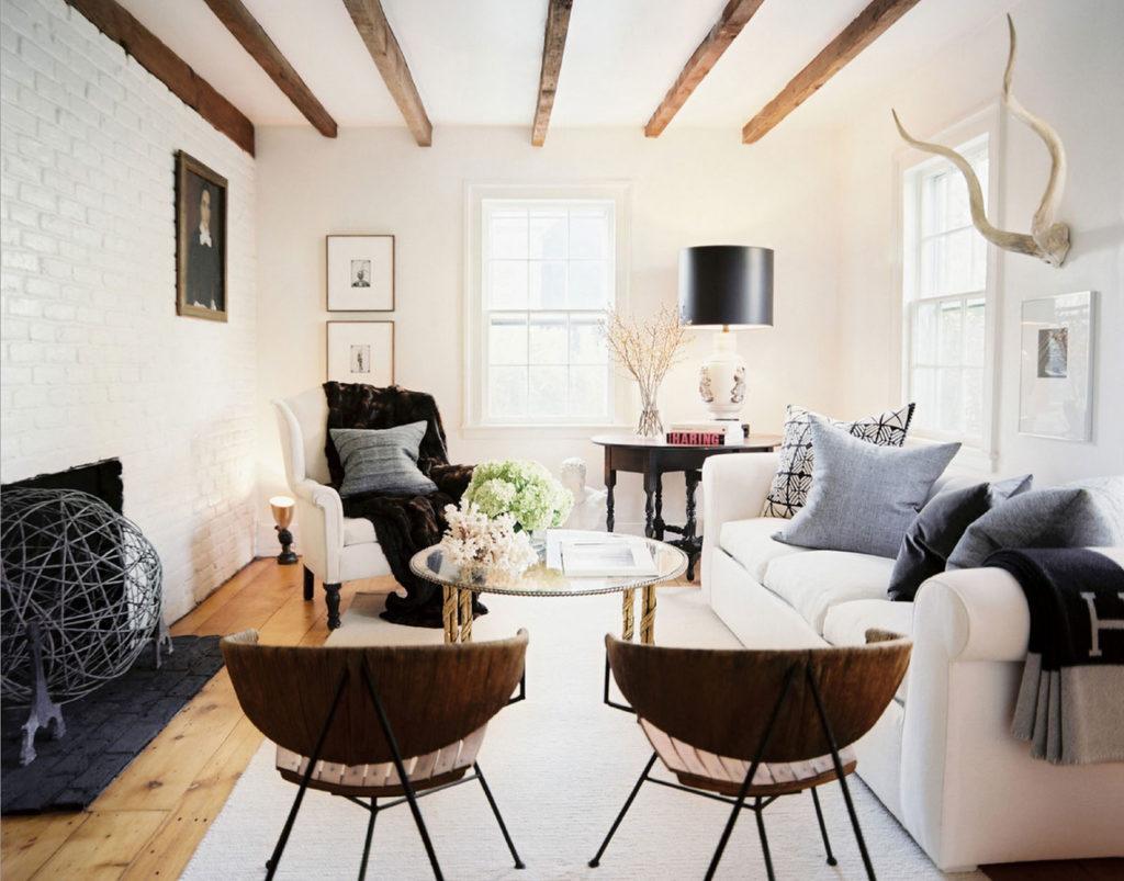 Скандинавский дизайн гостиной