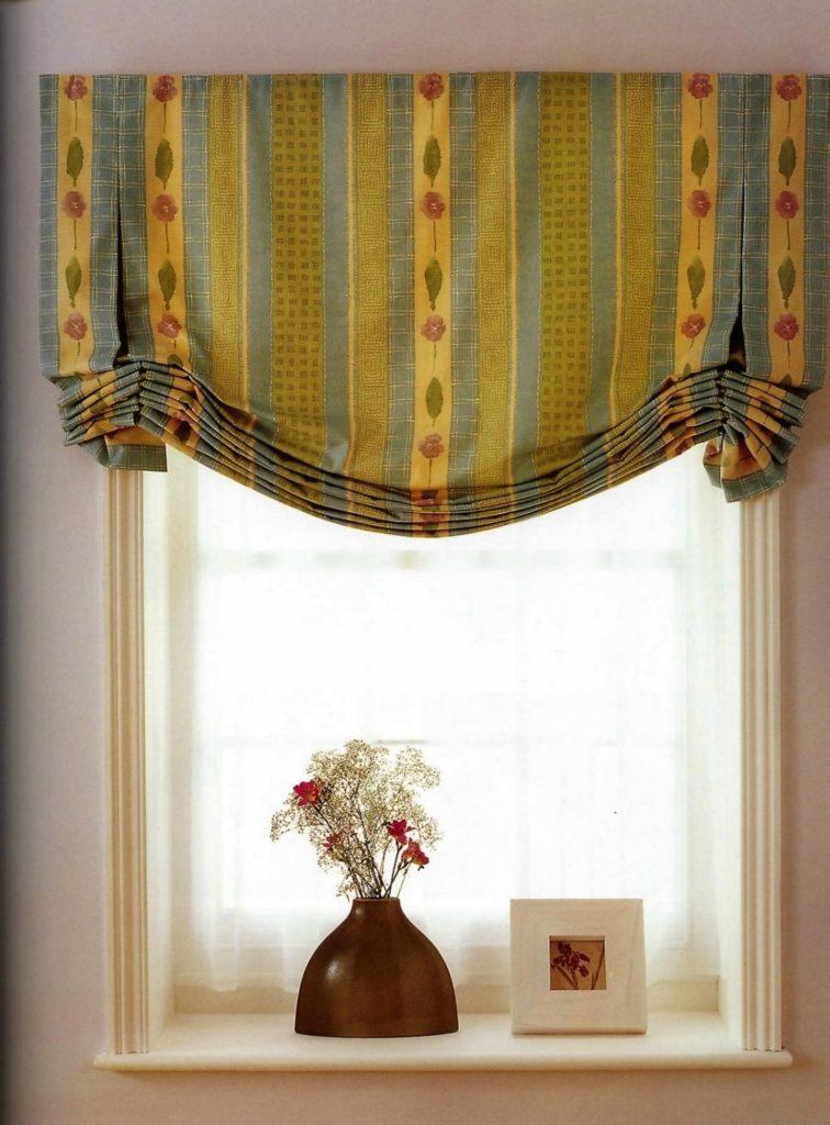 Необычные шторы для оформления окон в гостиной