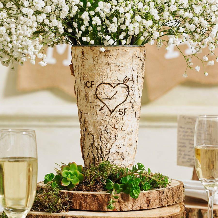Романтический декор в стиле эко