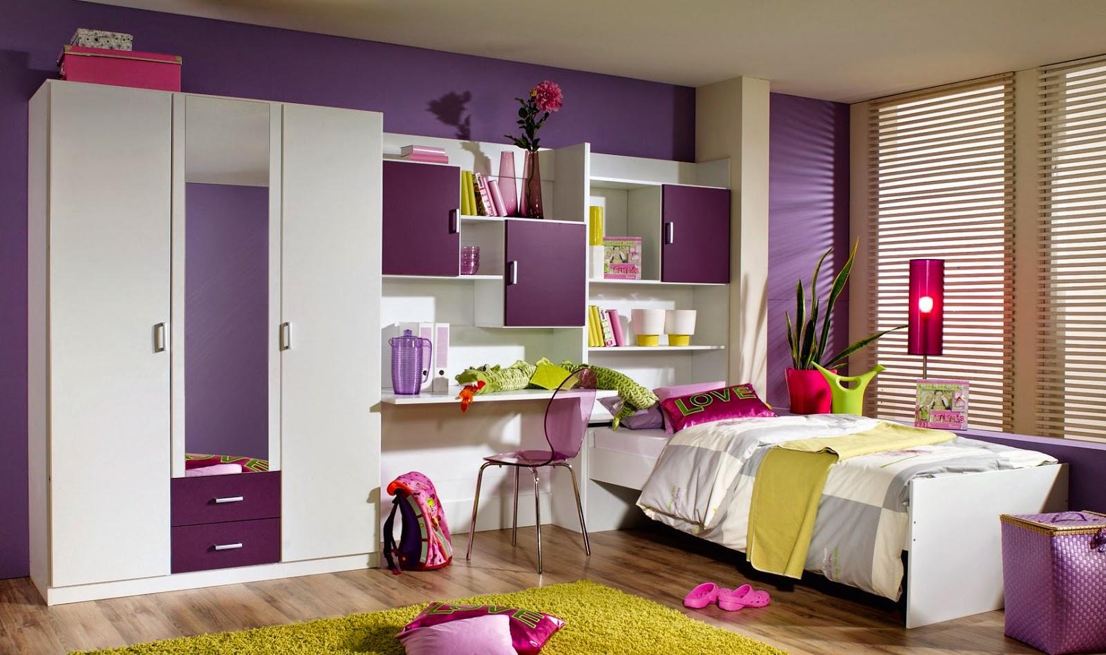 Дизайн комнаты для подростка фиолетовый