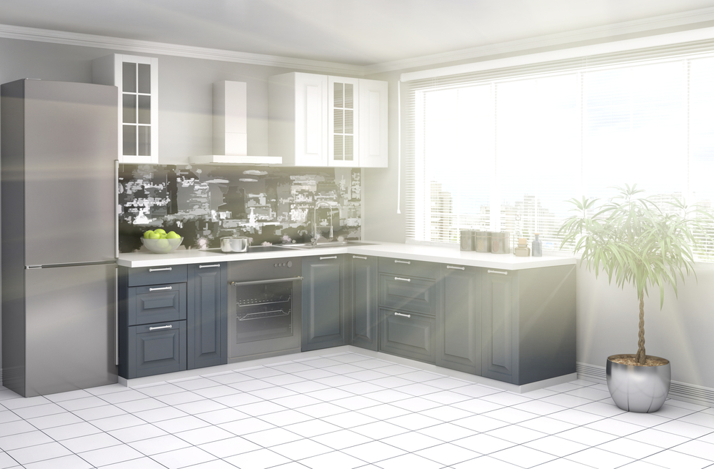 Серый гарнитур для кухни
