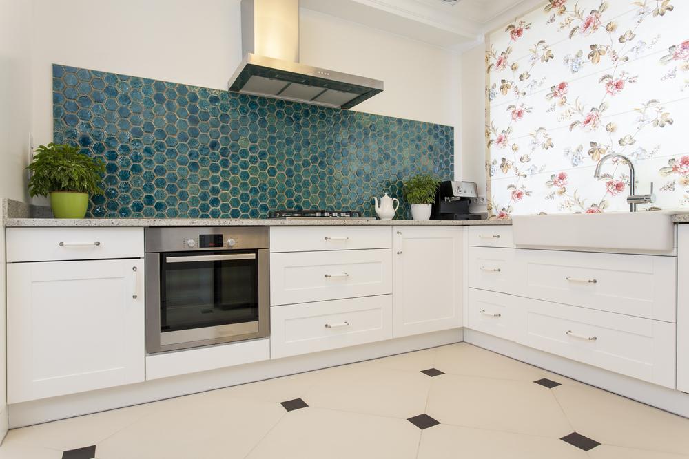 Зеленый кухонный фартук