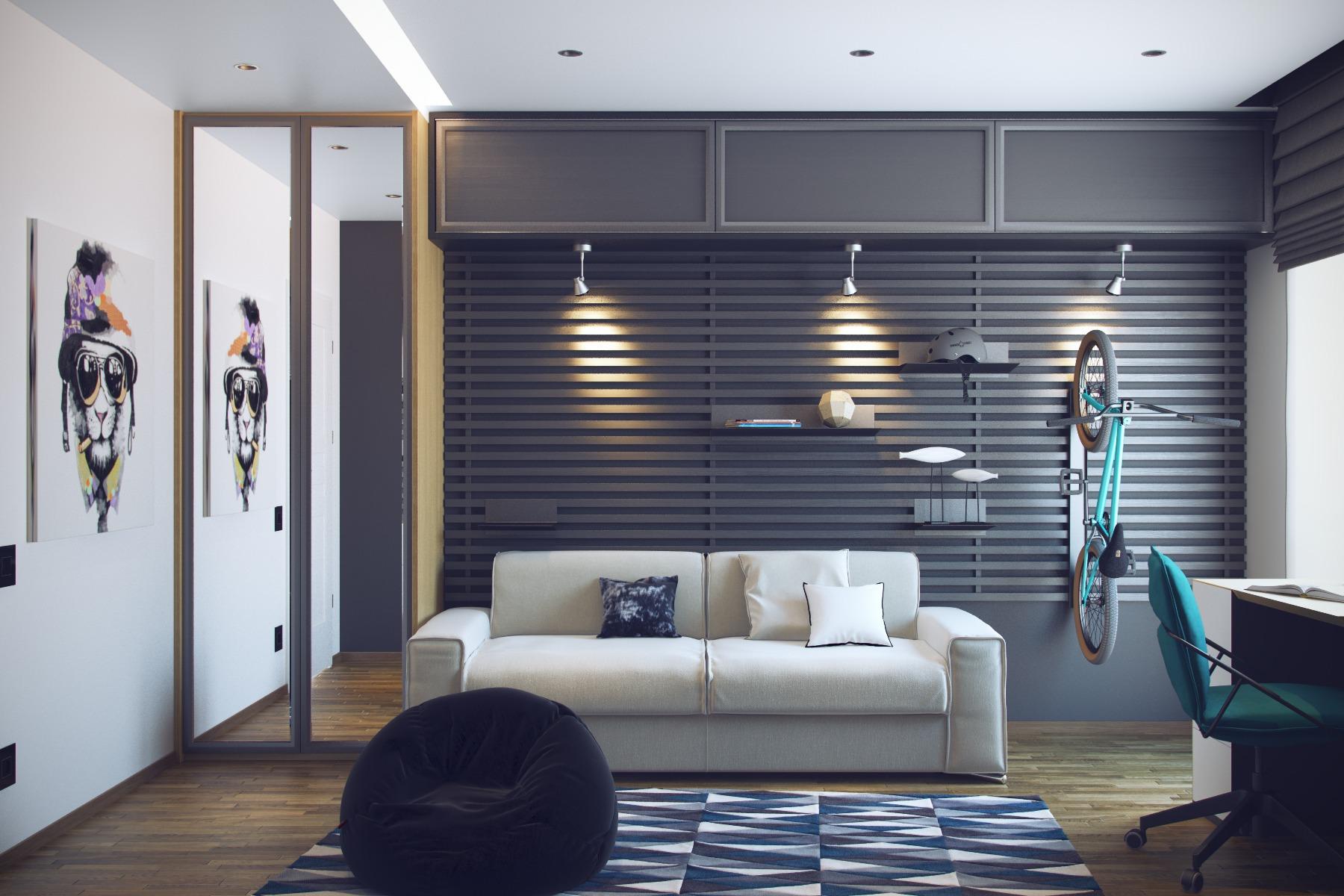Дизайн молодежной комнаты для юношей фото