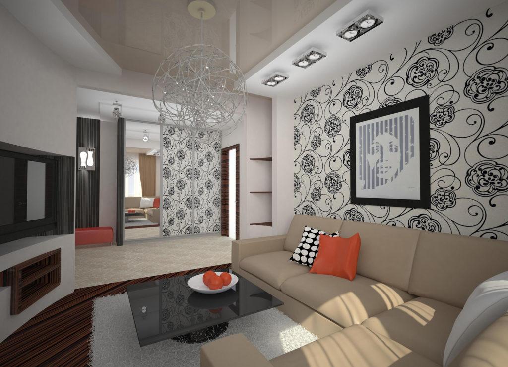 Постеры и свет делают пространство комнаты больше