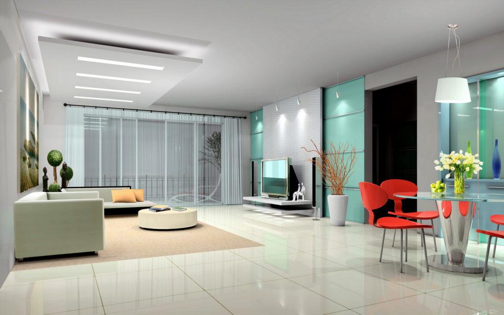 Использование полупрозрачных штор не уменьшает комнату