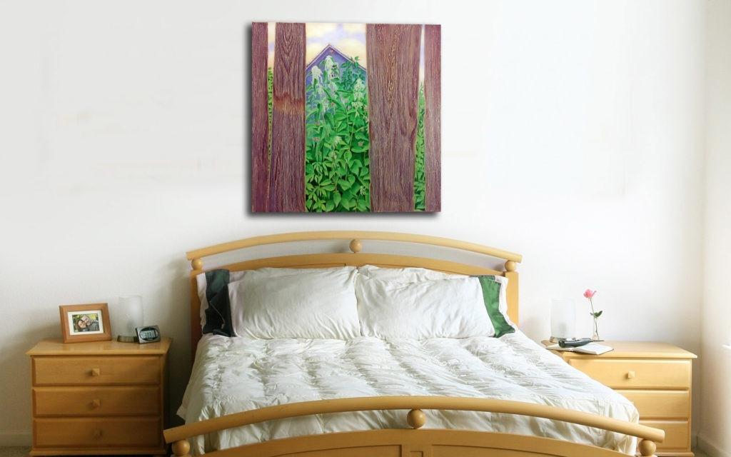 Картина для спальни в деревенском стиле