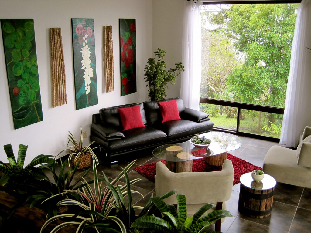 Современная гостиная в эко стиле