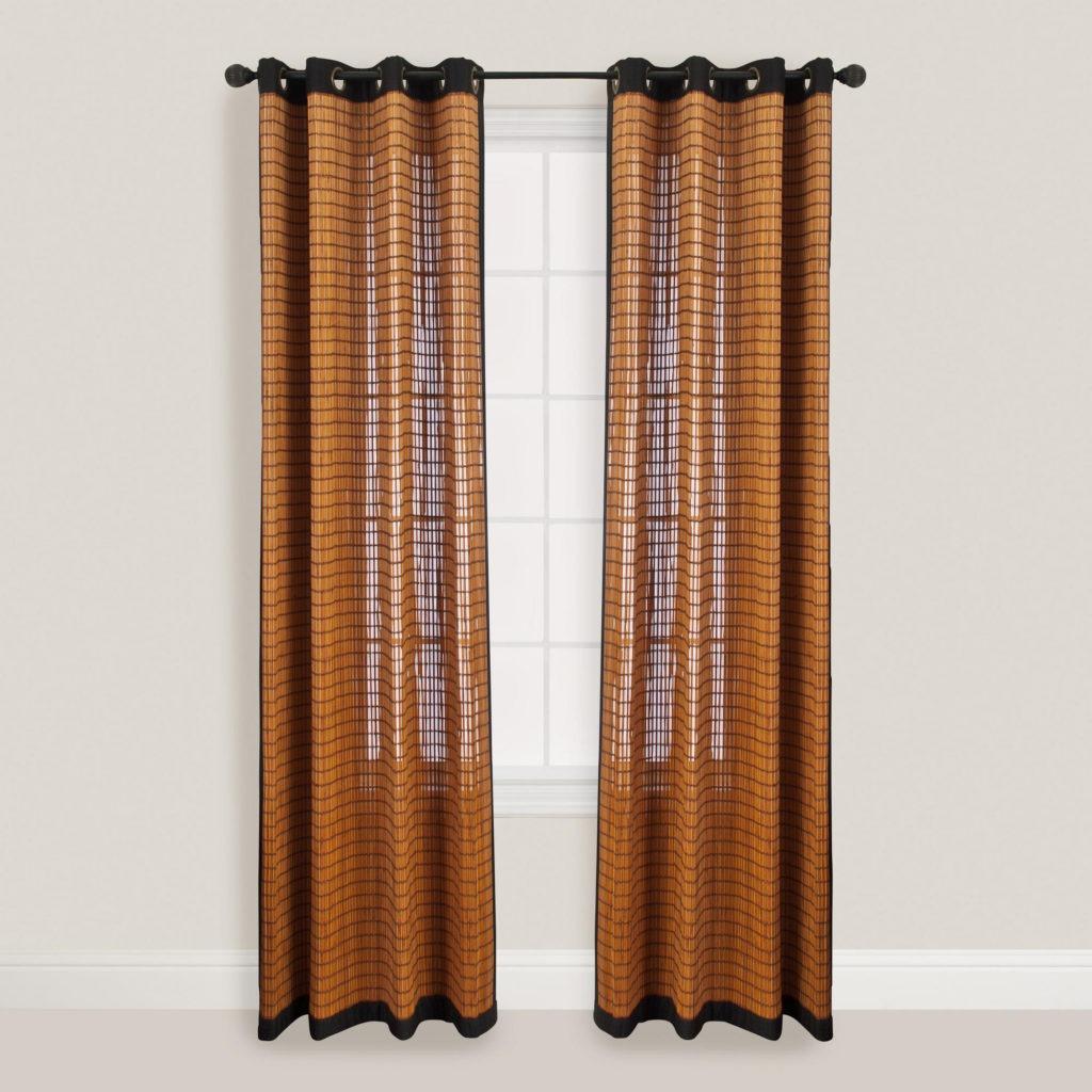 Длинные бамбуковые шторы для кухни