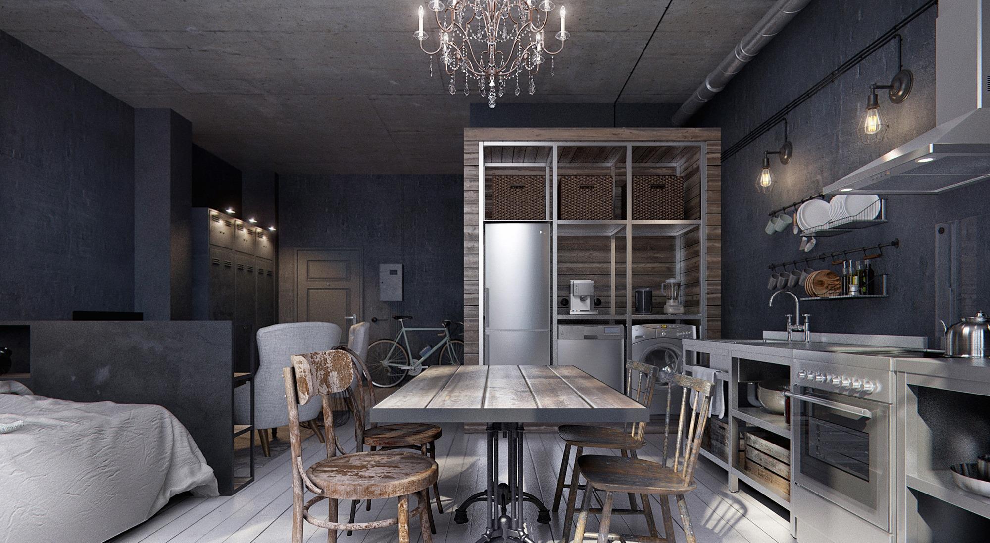 Интерьер серой кухни: красивые сочетания с яркими цветами (67 фото)