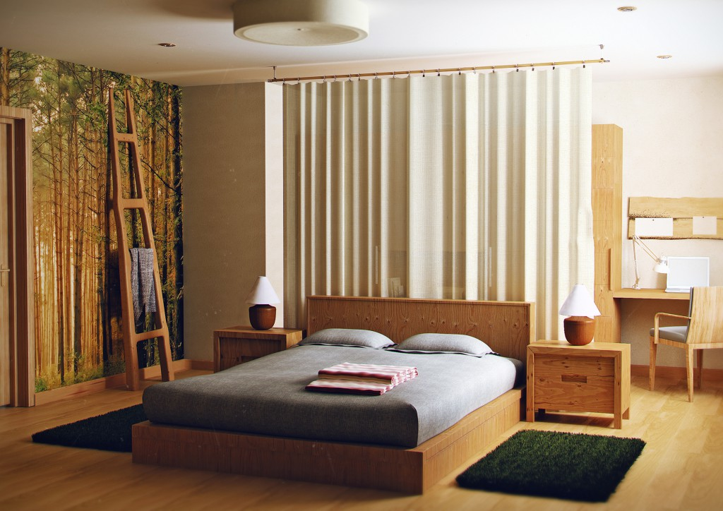 Эко-стиль спальни