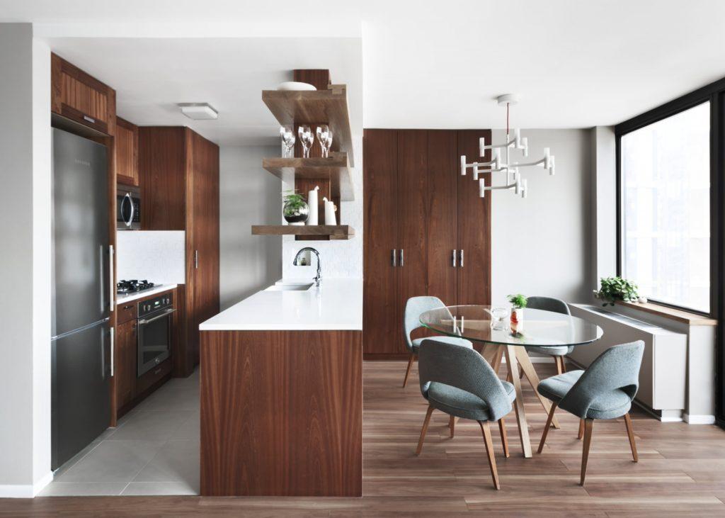 Скандинавский стиль кухни-столовой