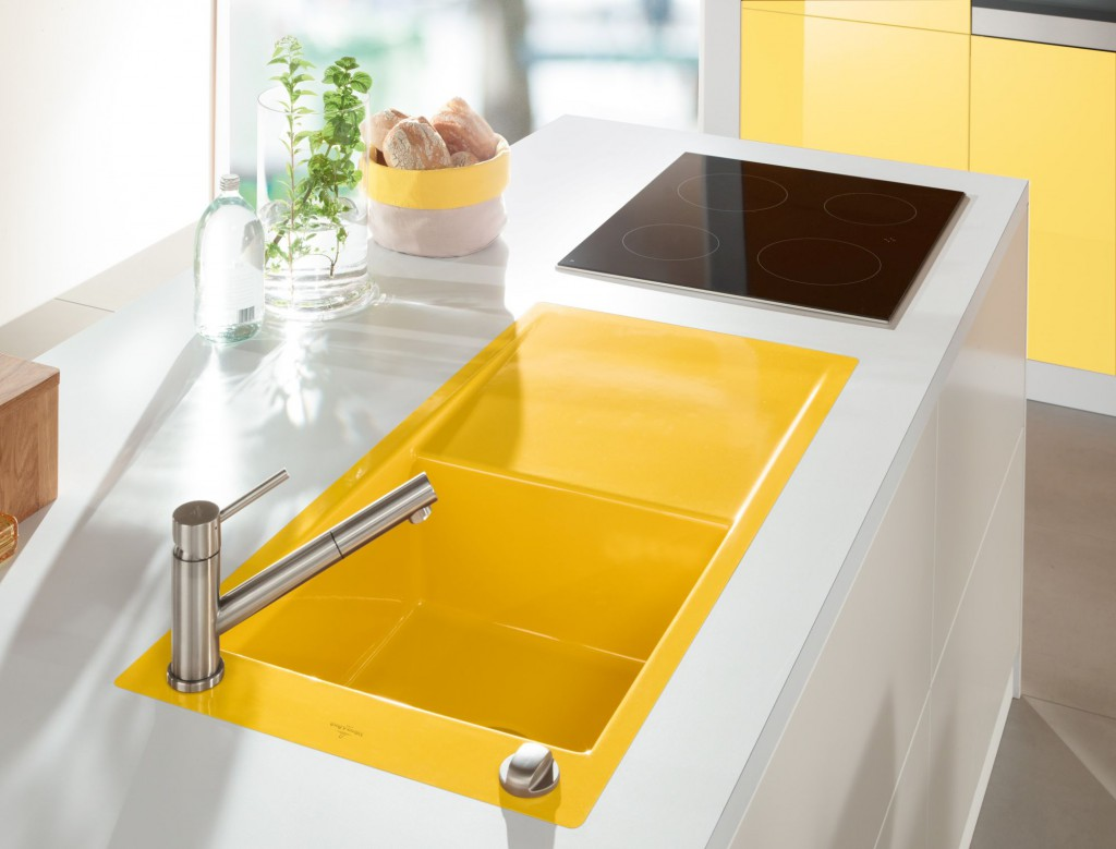 Элементы желтого цвета на кухне