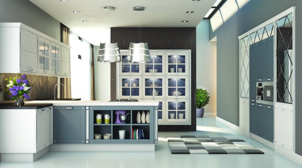 Современная вместительная кухня