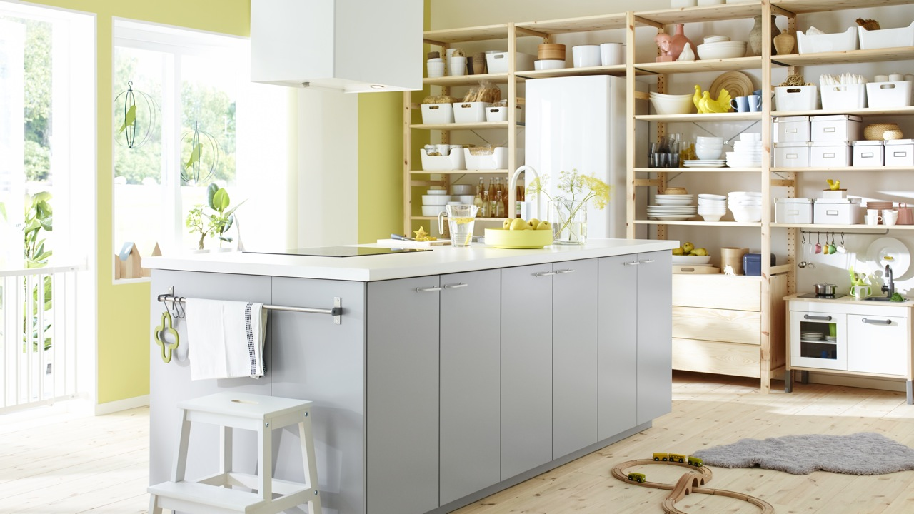 Открытая система хранения на кухне