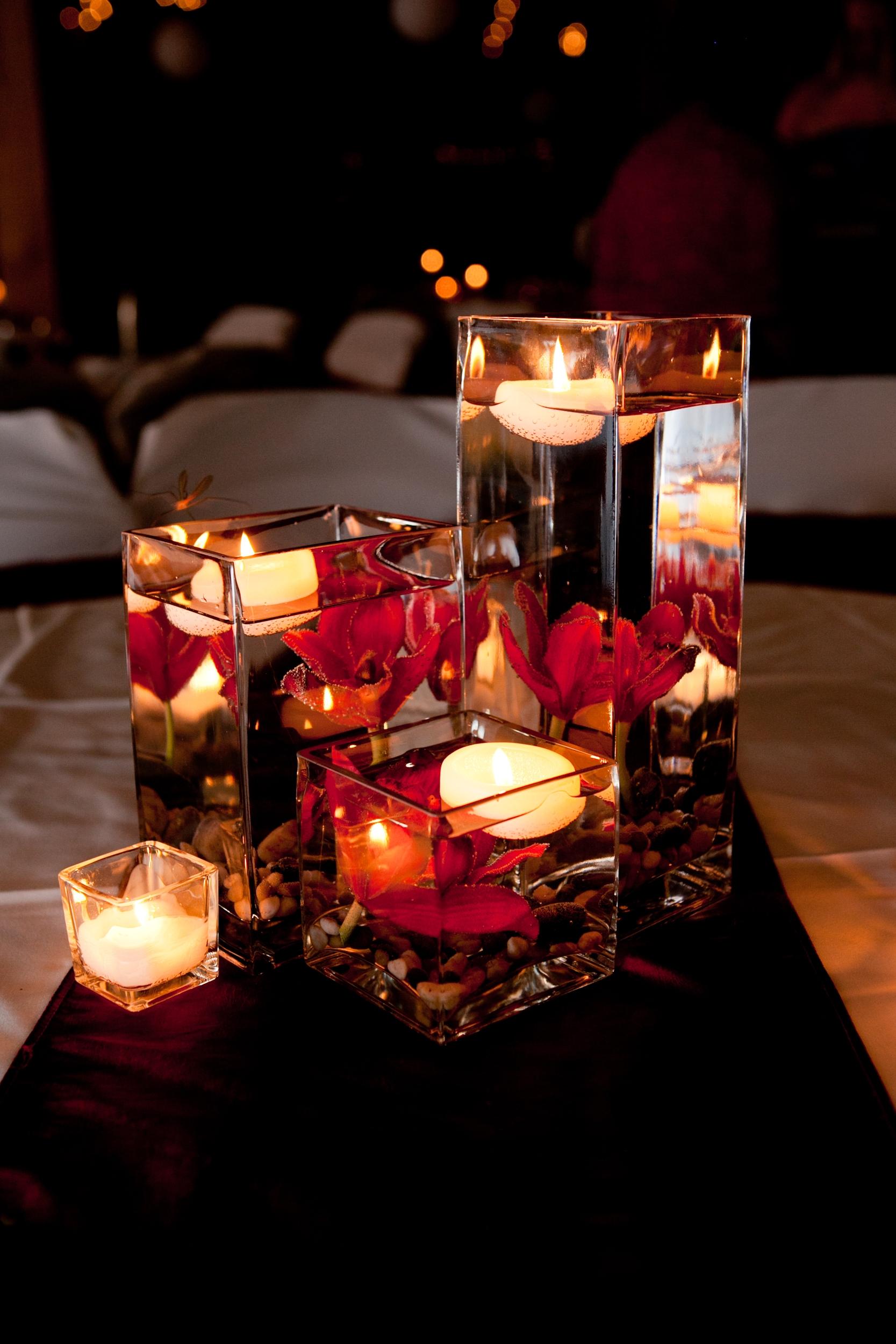 Романтический декор свечей