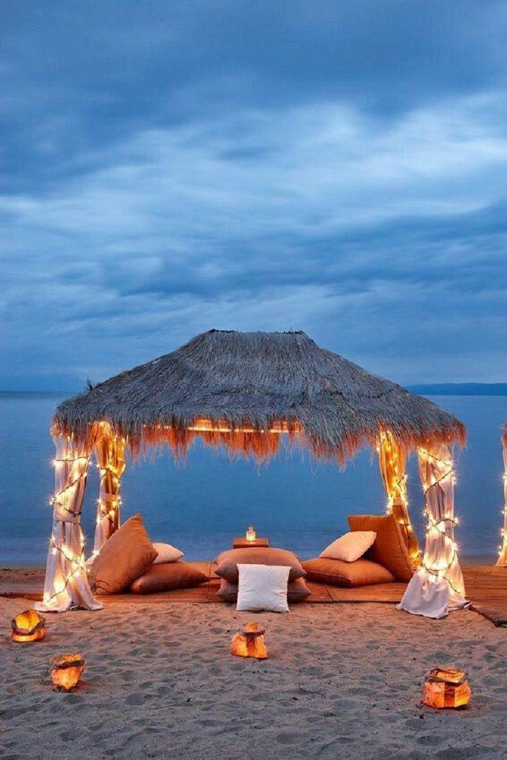 Романтический декор на пляже