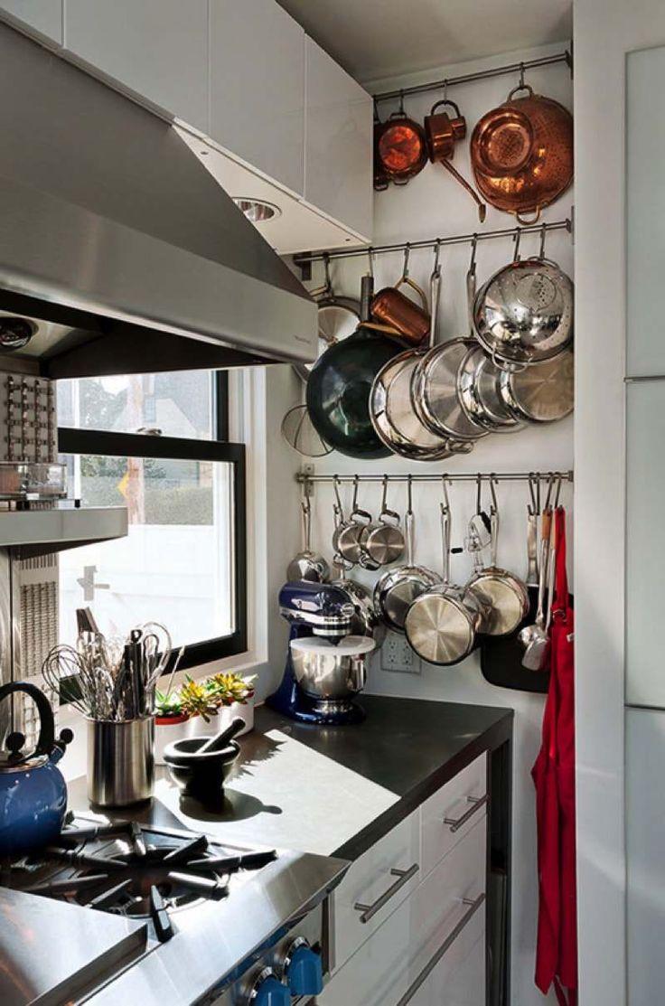 Подвесная система хранения на кухне