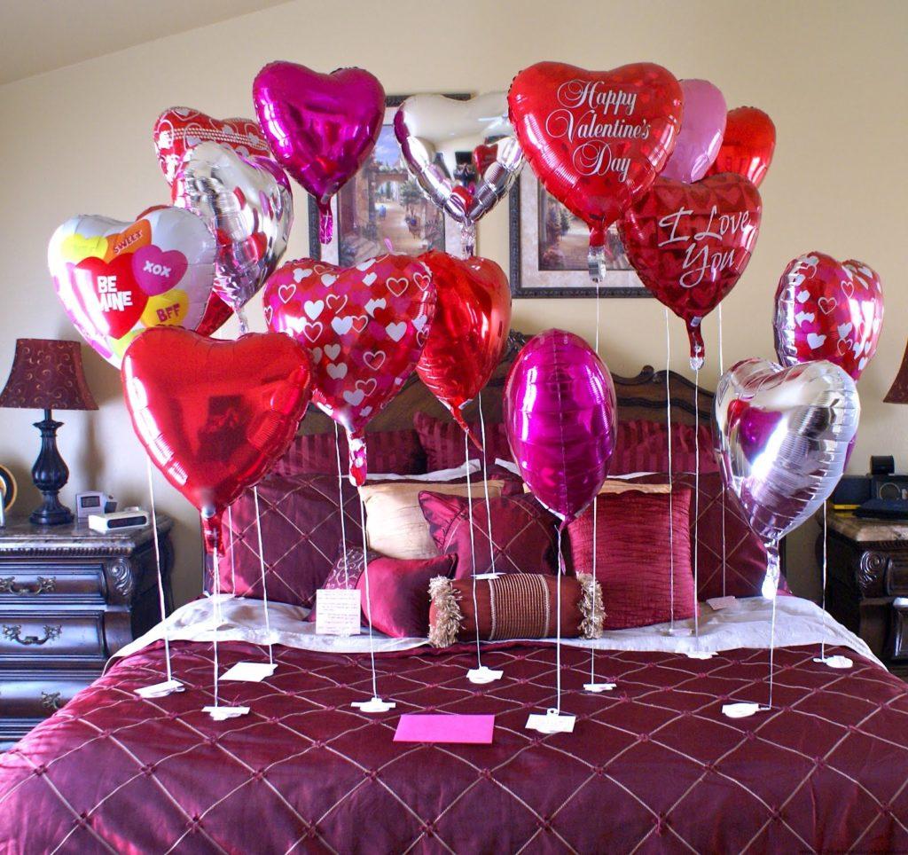 Украшение спальни для романтического вечера