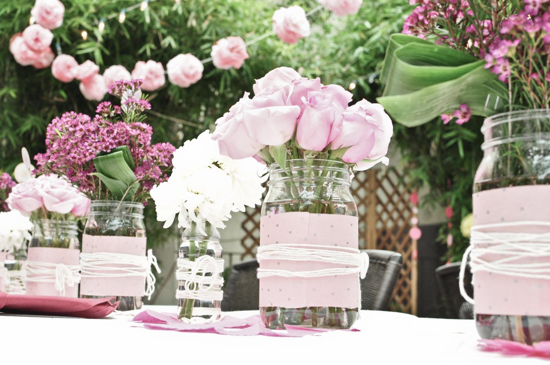 Романтический декор розового цвета