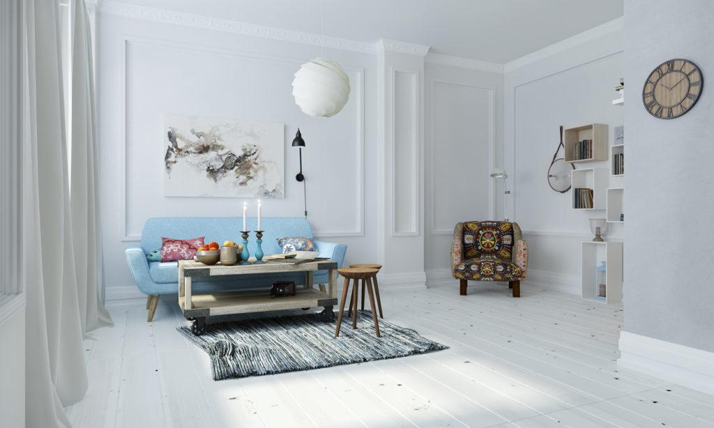 Декор для гостиной в скандинавском стиле