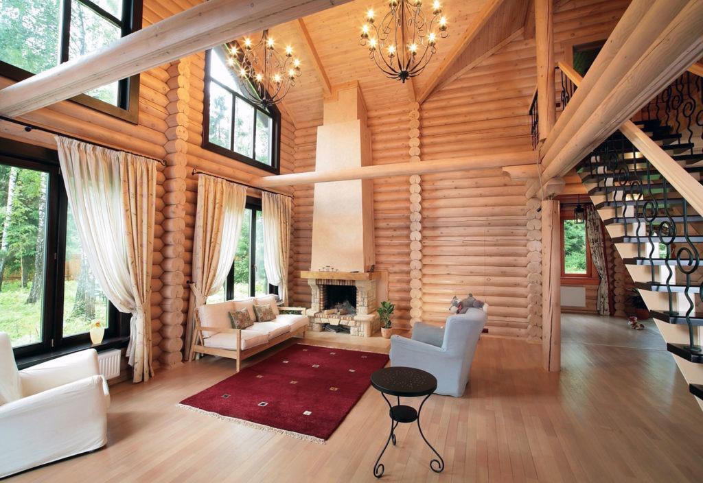 Гостиная в доме в скандинавском стиле