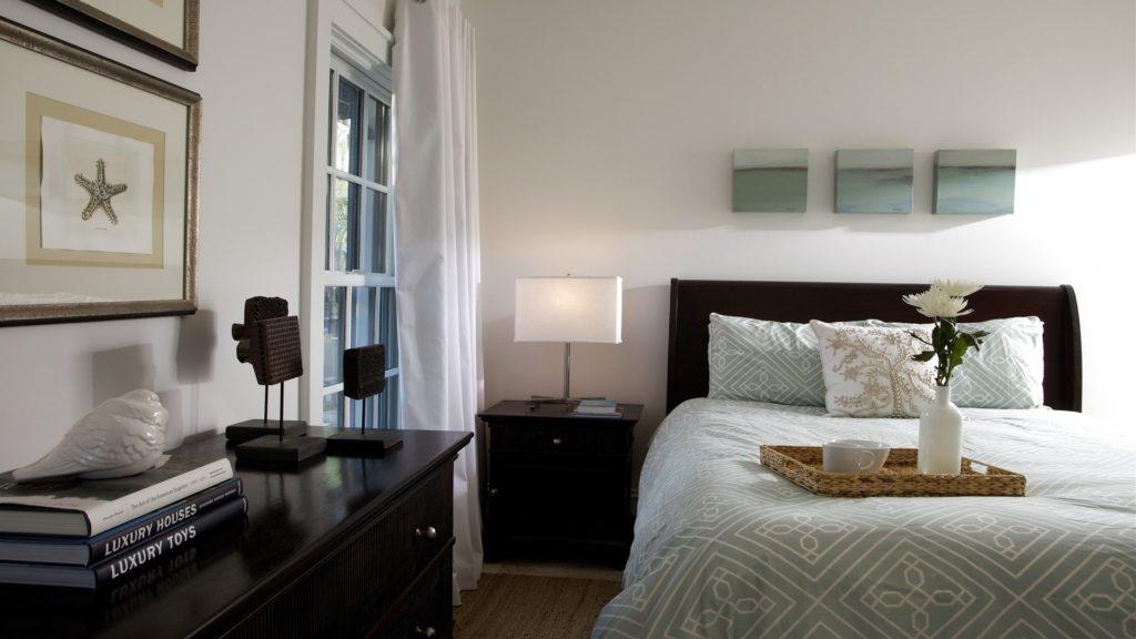 Освещение спальни в скандинавском стиле