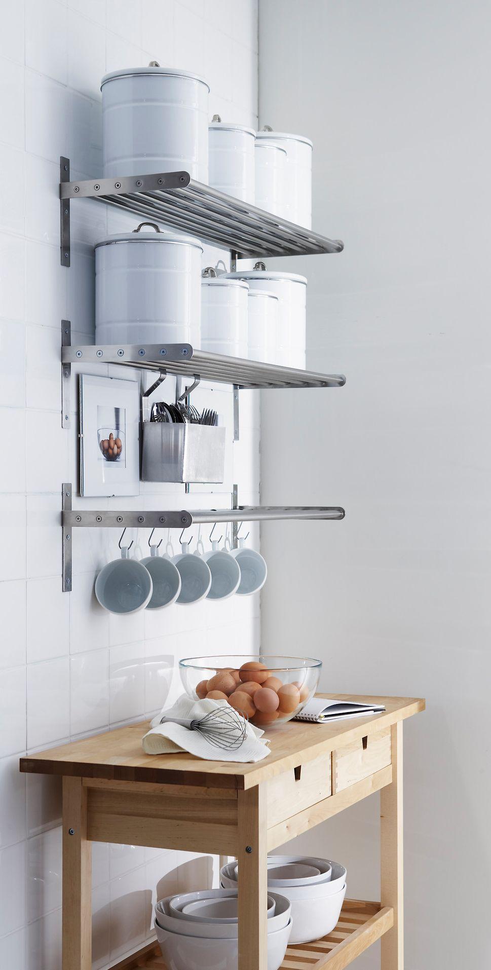 Компактное хранение на кухонных слингах