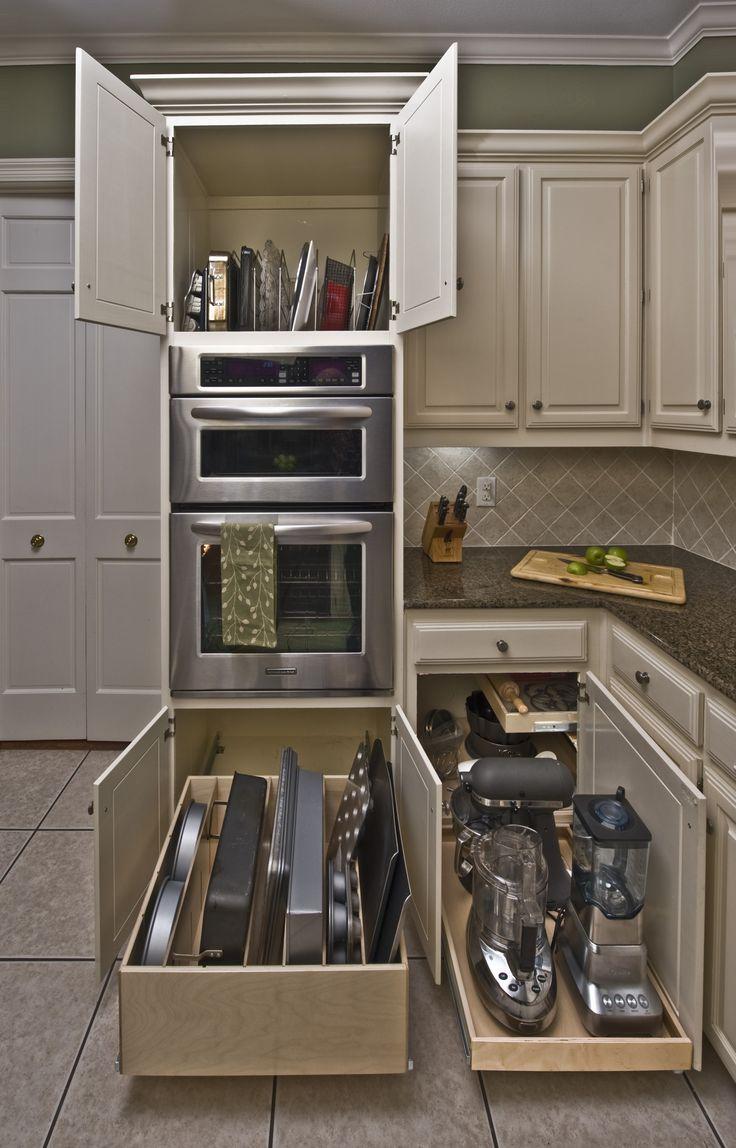 Компактное хранение техники на кухне