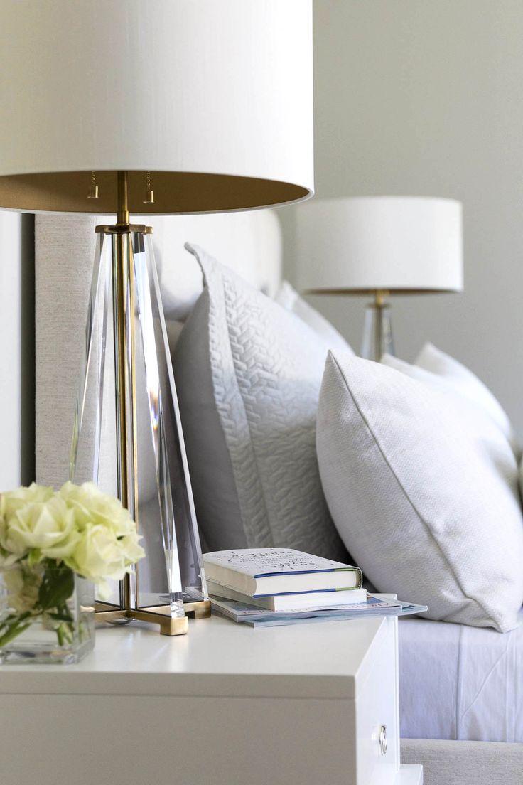 Прикроватный светильник с белым абажуром