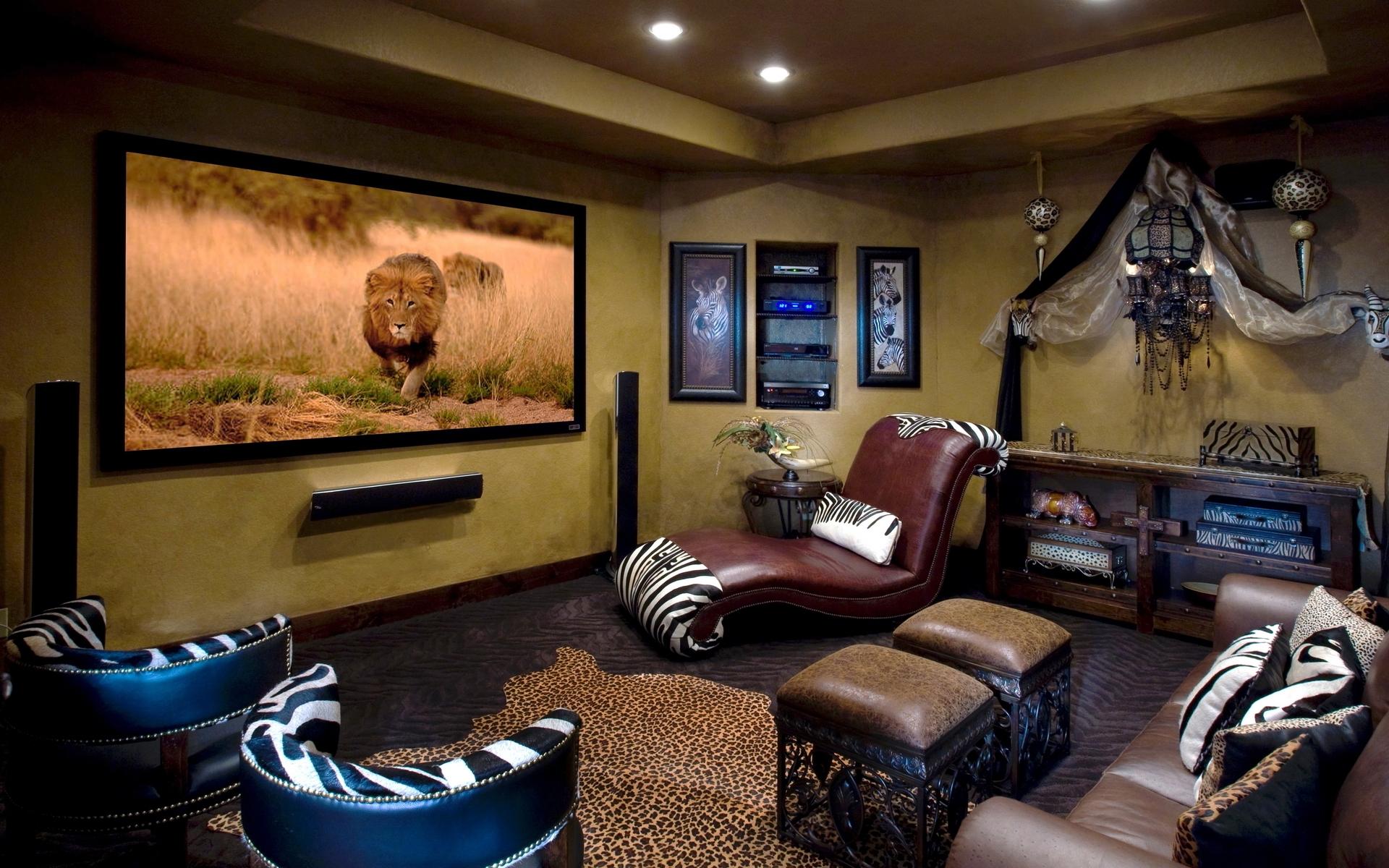 Гостиная в ярком африканском стиле