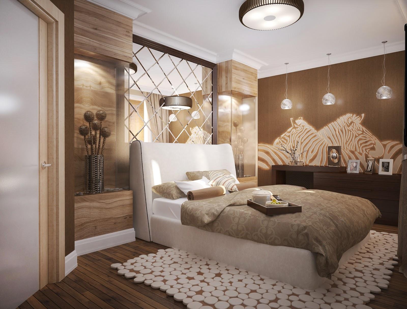 Современная спальня в африканском стиле