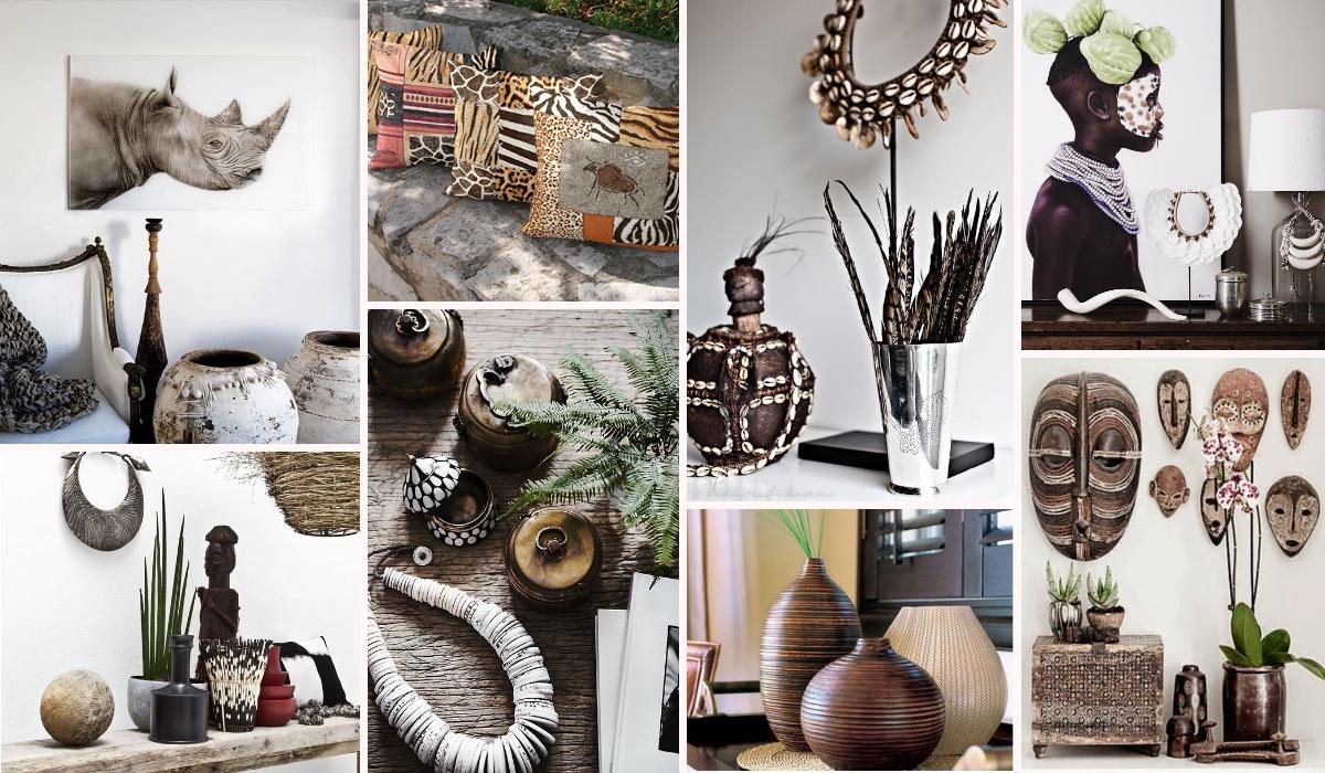 Варианты декора для создания африканского стиля в интерьере