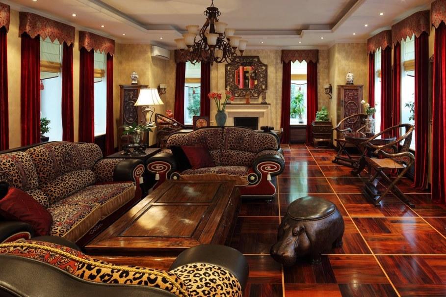 Сочетание классического и африканского стилей
