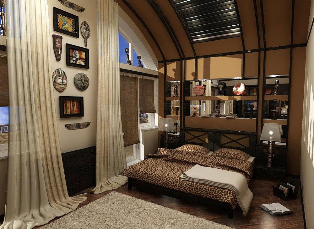 Декор спальни в африканском стиле
