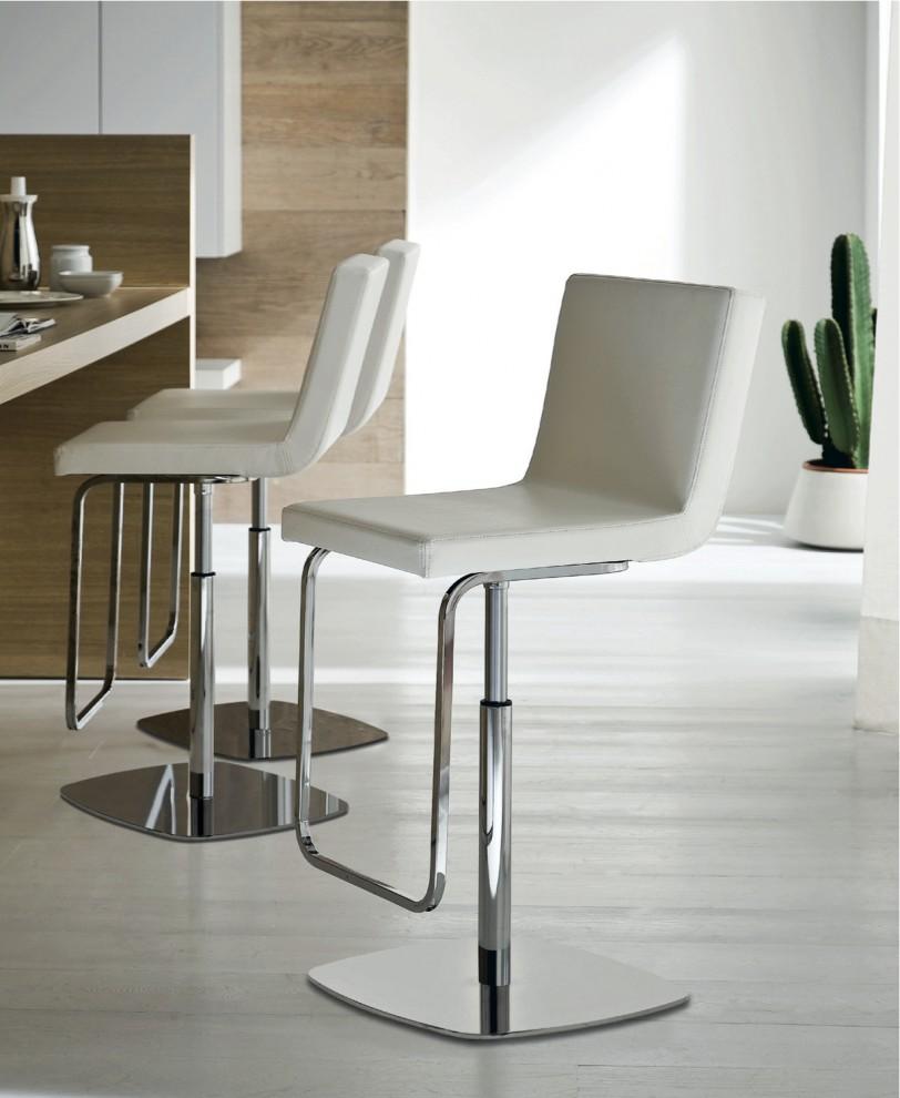 Белые барные стулья для кухни