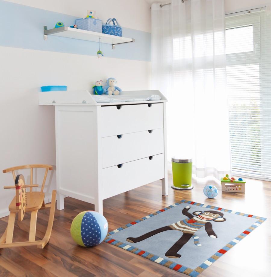 Дизайн штор для детской комнаты белый однотонный