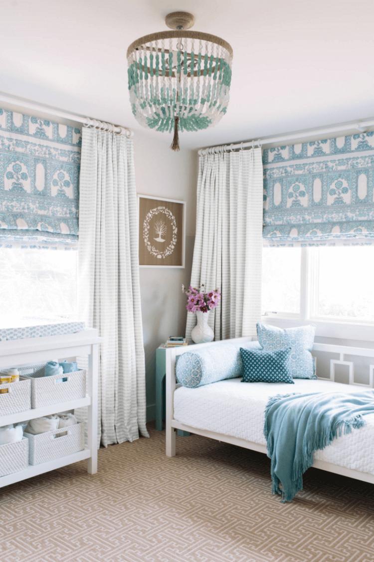 Дизайн штор для детской комнаты бирюзовый